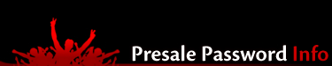 Ticketmaster Presale Passwords - Passwords for Ticketmaster Presales